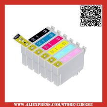 6 Ink Cartridge For Epson Stylus Photo RX700 Printer