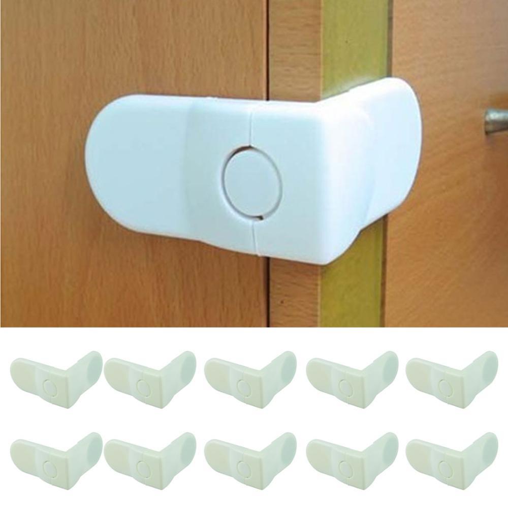 essencial branco 10pcs/lot bebê gaveta lock para porta armário refrigerad
