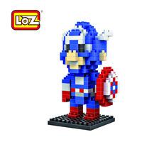 LOZ new educational science toys Diamond Blocks Avengers Captain America 2 LOZ-9159 Shape baby boy toys
