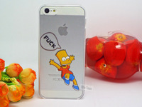 XXX X001: Shell For Apple iphone 5 iPhone 5S Case For iPhone5 iPhone5S 5G Homer Simpsons Simpson Cases Cover Logo Clear RR89 KKJ