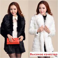 High quality fur coat new 2014 imitation mink luxury design stripe long overcoat outerwear winter women jacket Fur & Faux Fur