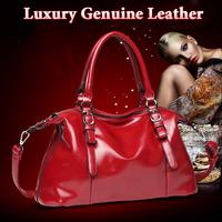 Genuine leather women handbag 2014 women's the trend of fashion bags wax cowhide handbag messenger bag one shoulder women's