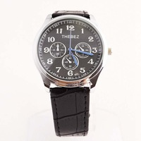 2014 new wholesale fashion women's office compass Quartz  leather watch band wrist watch TBS801