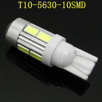 2pcs/lot super bright T10 LED 5630/5730 10 smd led auto car  turn signal interior light Lamp bulb with lens 12V