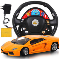 Large steering wheel remote control car charging electric drift of children's toys for boys carrinho de controle remoto