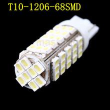 2pcs/lot T10 W5W 68 SMD LED 1206 Auto External Light Lamp Bulb DC 12V 194 927 161(China (Mainland))