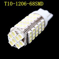 2pcs/lot T10 W5W 68 SMD LED 1206 Auto External Light Lamp Bulb DC 12V 194 927 161