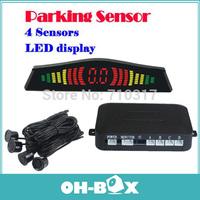 New 2014 Free Shipping Car LED Parking Sensor Radar PZ304 Backup Reverse Radar 4 Sensors Parktronic