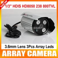"CCTV Security Outdoor use Camera  1/3"" HDIS  HD8050 238  Sony CCD & CMOS Board 800TVL 2.8mm Lens 3pcs Array Leds With OSD menu"