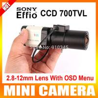 HD 1/3 Sony Effio-E CCD 700TVL D-WDR Bullet 2.8-12mm Lens Auto Iris OSD Digital Noise Reduction Box Security Camera for 960h dvr