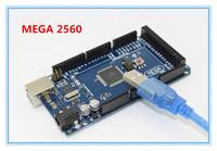 Freeshipping sduino Mega 2560 R3 Mega2560 REV3 ATmega2560-16AU Board + USB Cable Compatible Good Quality Low Price