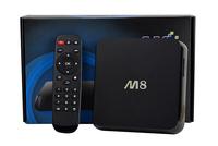 M8 Amlogic S802 Quad Core Android TV Box 2G/8G Mali450 GPU 4K HDMI per-install 13.0 version xbmc android 4.4 tv box