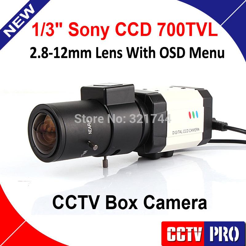Mini HD 1/3 Sony Effio-E CCD 700TVL D-WDR Bullet 2.8-12mm Lens Reduction cctv Box Security Camera for 960h cctv dvr(China (Mainland))