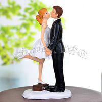 """""""A Kiss and We're Off!"""" Wedding Cake Topper CUSTOMIZATION AVAILABLE Reception Free shipping"""