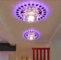 3W modern crystal ceiling light LED lamp for living room lustres home decoration AC200-240V light fixtures abajur sala luminaria