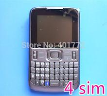 New 4 Sim Card 4 Standby Original ADMET QWERTY Keyboard Cheap Cell Phone w/ Free Gift Case MP3 Camera FM Radio Bluetooth Russian(China (Mainland))