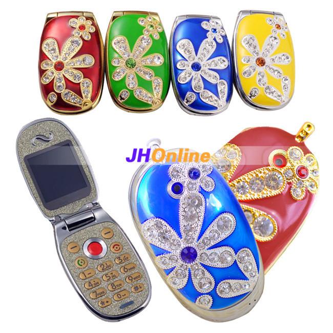 -Mini-Ultra-small-Phones-Clamshell-Fashion-Diamond-Jewelry-Cute-Child