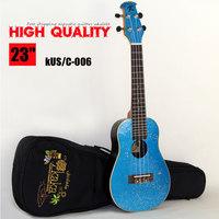 Free shipping acoustic guitars 23 inch  kaka high quality kus/c-006 ovtation ukulele ukulele guitarras