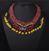 2014 Statement Choker Necklace Brand Za necklace Jewelry Resin Multicolor Fashion Necklaces & Pendants Women Collar 8938