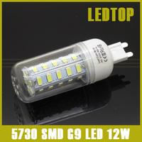 2014 New High Power Mini G9 12W 5730 SMD LED Corn Light Bulb 36 leds 220V White/Warm White crystal chandelier lighting lamp