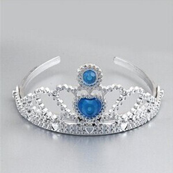 Cartoon Crown Dress Accessories Rhinestone Tiara Headband Ribbon Christmas Hair Accessories Party Supplies 1pcs/lot(China (Mainland))