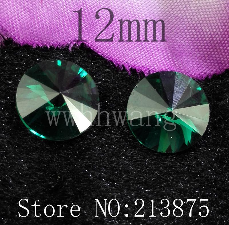 Grátis frete 50 pcs 12 mm pavão verde forma satélite vidro cor facetada de vidro redondo de fundo prata strass applique strass(China (Mainland))