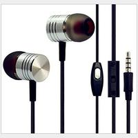 Best Sale Metal Stereo Xiaomi Piston Earphone Headphone With Mic For Xiaomi Iphone 6 5s 5c samsung