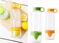 Free Shipping 2014 new design fashion lemon drinkware bottles Hot Wholesale fruit juice cup popular lemon water bottle cup,10pcs