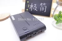 2014 high quality Portable 15000mAh Power bank Dual USB Output External Backup Power Bank LED Light  1set Christmas gift