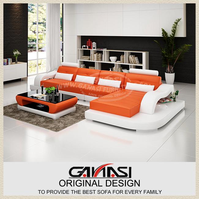 Chesterfield lederen sofa woonkamer sofa moderne lederen chaise lounge - Moderne lounge stijl ...