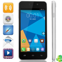 "Original DOOGEE VALENCIA DG800 Smart Phone 4.5"" IPS Screen MTK6582 Quad Core 1.3GHz GPS 3G Android 4.4.2 1GB 8GB 13.0MP Camera"