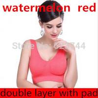 free shipping wire free padded bra women's underwear  Sexy Seamless sport yoga bra Leisure similar Ahh / Genie sport leisure Bra