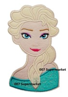 """7"""" BIG Frozen Princess Elsa Bust  Snow Queen Film TV MOVIE Classic Lovely Girls Dress Embroideried Patch Logo Badge"""
