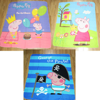 3pcs/lot  2014 New peppa pig Coral Fleece Blanket 100% Polyester kids Sleeping Quilt/Cover Picnic/Travel Blanket Rug Cover gift