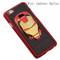 Iron Man case for iPhone 5s 5 6 plus Samsung i9500 S4 Luxury case three-dimensional protective shell free shipping