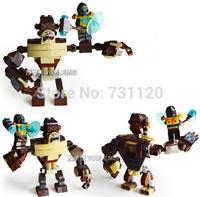 Bela Shoved Ape God beast 10070. 105Pcs/Set. The Children's Educational Toys, Building Blocks Assembled, DIY Toy!