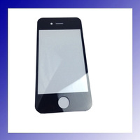 5pcs/lot Black High Quality for iPhone 4G Front Touch Panel Screen Glass Lens For iPhone 4