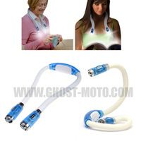 Free shipping NEW Convenient LED Flexible Handsfree Hug Neck Reading Book Light Lamp Torch Huglight As Seen On TV