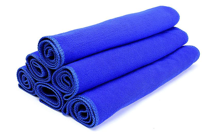 Free shipping 5PCS Microfiber Car Auto Clean Wash Polish Towel Cloth(China (Mainland))