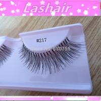 false eyelashes makeup hand-made human hair eyelash extension #110 red cherry lashes