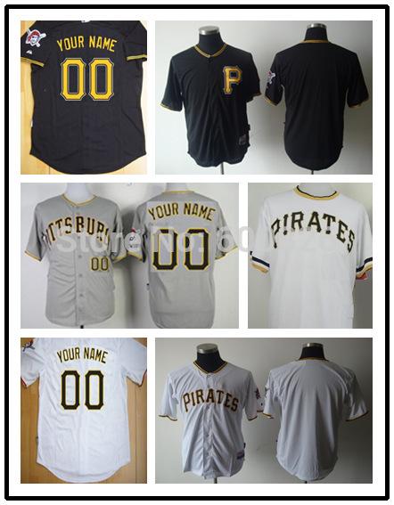 Men's Cheap Custom Pittsburgh Pirates Baseball Cool Base Jersey,Personlized Youth Women Jersey,Embroidered Logo(China (Mainland))