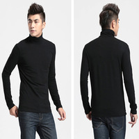 New autumn winter men undershirts, turtleneck long sleeves casual men t-shirts, outside or inside wearing available t-shirts
