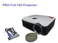 New Portable 800X600 Full HD Projector 1080P LED Projetor 2500 Lumens Home Theater HDMI/VGA/TV/USB/AV Input  Mini Projector