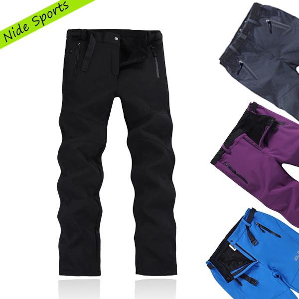 Fashion 2014 winter warm outdoor hikking pants waterproof snow snowboard pants trousers women ski pants 7 color Free shipping(China (Mainland))