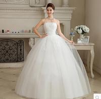 Promotion Fashion Sexy Wedding Dresses Sweet Princess Beading Wedding Dress 2015 Tube Top Weddings vestidos