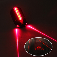 Bicycle Bike LOGO Projector+2 Laser Beam +5 LED Light Rear Tail Lamp Safety Alarm Flashing Flash Cycling Wireless
