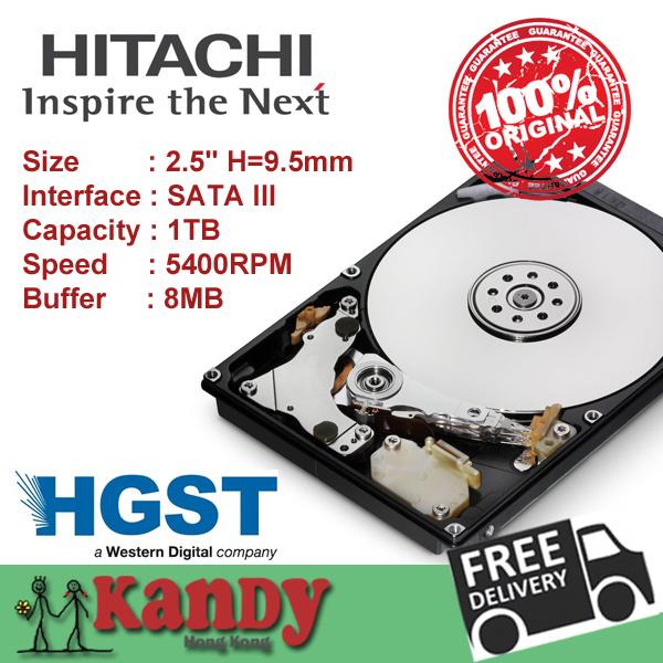 Hitachi HGST 1TB SATA 3 III 2.5 inch notebook HDD hard disk drive HDD 9.5mm genuine Cache 8MB 5400rpm Bulk Pack Wholesale lot(China (Mainland))