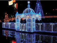 1.5 x 1.5m Christmas Lights Blue LED Wedding Fairy Curtain Lights String With Tail Plug For Party Decoration Waterproof