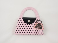 Free Shipping+Wholesale Wedding Favor Gift Pink Polka Purse Manicure Set Pedicure,100sets/lot