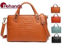 2015 New Fashion Women Genuine Leather Handbags Elegance Alligator Shoulder Bag Purses Casual Tote Portable BH1158 Free Shipping